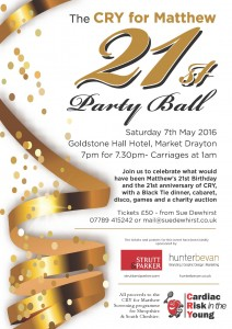 Cry 21st Ball poster